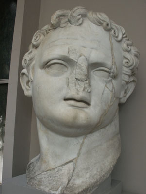 Domitian's Head in Ephesus Museum