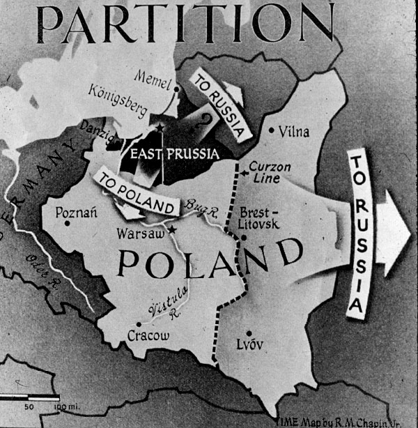 The partition of poland in 1945 Stettinius had definitely the impression